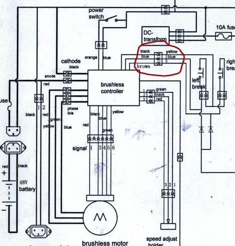 xb 500 controller wiring v is for voltage electric vehicle forum rh visforvoltage org Electric Scooter Wiring Diagrams Mobility Scooter Wiring Diagram