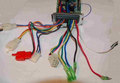 so the only thing left to identify is the on white 3 prong connector with  the (orange yellow black) wires, and the lone white single wire