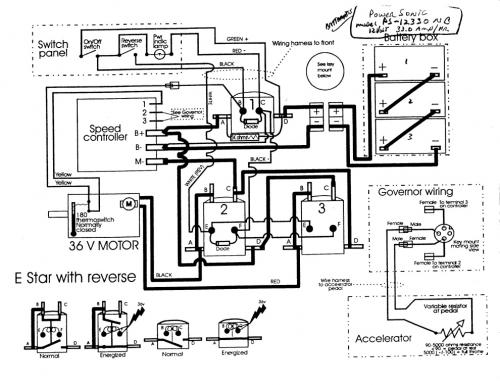 1986 yamaha golf cart wiring diagram 1994 yamaha golf cart wiring diagram ok dumb question time: about golf cart controllers | v is ... #9