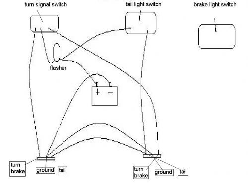 simple wiring help brake lights, running lights, turn signal v is Brake Light Wiring Diagram