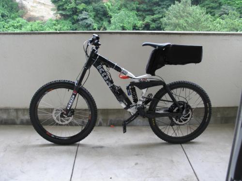Crystalyte 5303 Rear Disc Mounted On Kona Mountain Bike V Is For